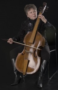 Martha Bishop playing viol